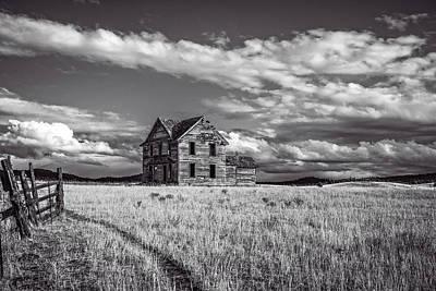 Photograph - King Homestead_bw-1601 by Joe Hudspeth