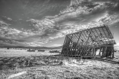 Photograph - King Homestead_bw-1603 by Joe Hudspeth