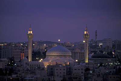 King Hussein Mosque In Amman, Jordan Art Print by Richard Nowitz