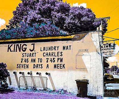 King J. Laundry Mat Art Print by Paula   Baker