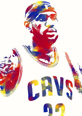 Athletes Digital Art - King James 2 by Ricky Barnard