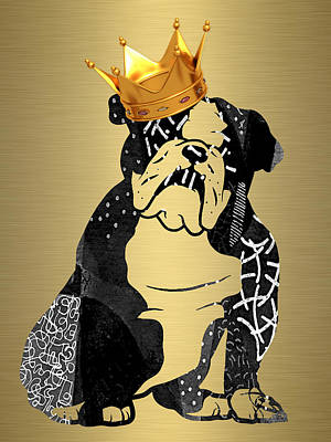 Mixed Media - King James English Bulldog by Marvin Blaine
