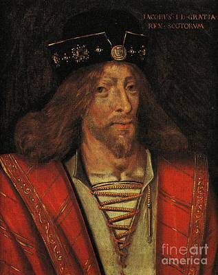 Painting - King James I Of Scotland Circa 1425 By Unknown by Peter Gumaer Ogden Collection