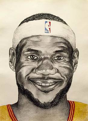 Lebron James Drawing - Lebron James by J Kae Good Bear