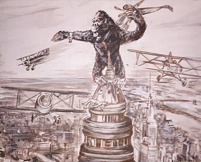 King Kong - Atop The Empire State Building Art Print