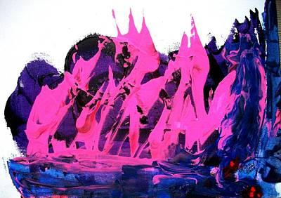 King Kong Attacks Phantom Pink Sail Boat Art Print by Bruce Combs - REACH BEYOND