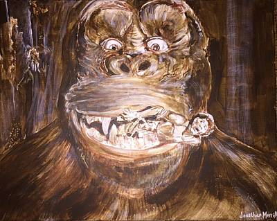 King Kong - Deleted Scene - Kong With Native Art Print