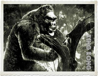Singer Digital Art - King Kong by John Springfield