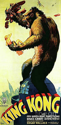 Empire State Building Drawing - King Kong, Movie Poster by Thomas Pollart