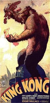 Personalized Name License Plates - King Kong poster RKO Radio 1933 by David Lee Guss