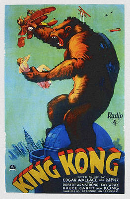 King Kong, Swedish Poster Art, 1933 Art Print by Everett