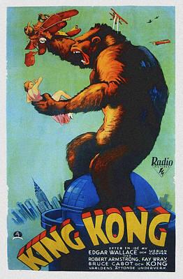 King Kong, Swedish Poster Art, 1933 Print by Everett