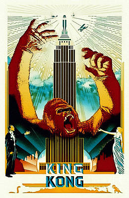 Painting - King Kong - Vintage Poster by Ian Gledhill