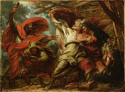 Fool Painting - King Lear by Benjamin West