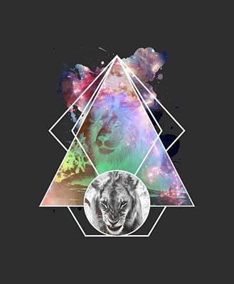Cool Lion Digital Art - King Lion by Michelle Murphy