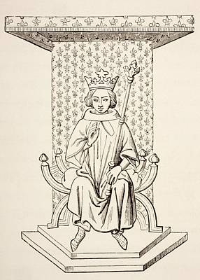 St. Louis Drawing - King Louis Ix Of France, 1214 - 1270 by Vintage Design Pics