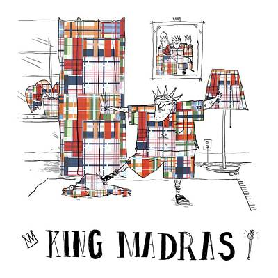 Drawing - King Madras by Sara Lautman