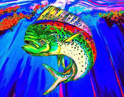 Digital Art - King Mahi-mahi by Larry Beat