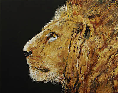 King Cat Painting - King by Michael Creese