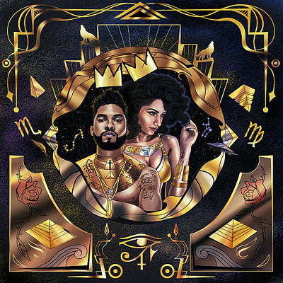 Painting - King Miguel And Queen Nazanin by Kenal Louis