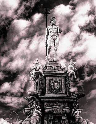 Mixed Media - King Neptune Mythology by Joseph Hollingsworth