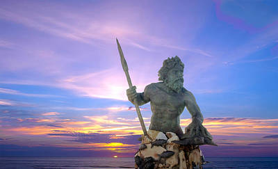King Neptune's Sunrise Art Print