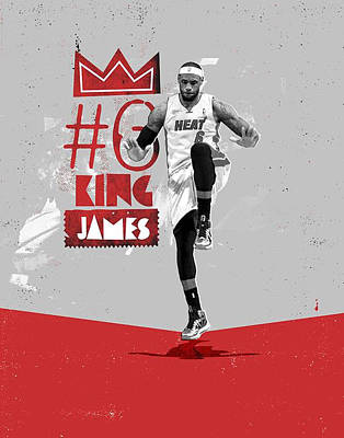 Lebron Drawing - King Of Basketball by Jeric Barnutz
