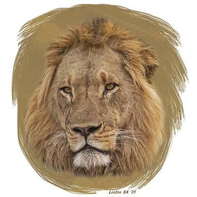 Digital Art - King Of Beasts 6 by Larry Linton