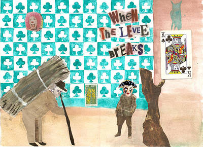 Mixed Media - King Of Clubs by Keshava Shukla