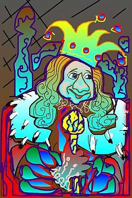 Greeting Card - King Of Fools by Rae Chichilnitsky