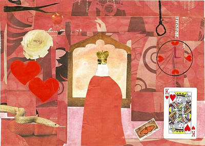 Mixed Media - King Of Hearts by Keshava Shukla