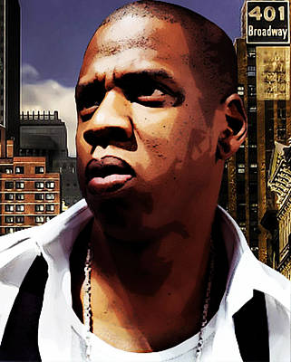 Jay Z Mixed Media - King Of New York by The DigArtisT