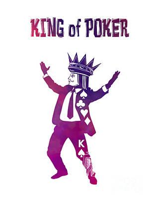 Edward Hopper - King of Poker purple by Justyna Jaszke JBJart