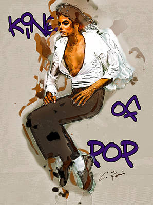 Digital Art - King Of Pop by Charlie Roman