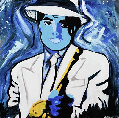 King Of Pop With Gun Art Print by SL Elevate