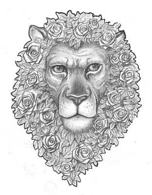 James Parker Drawing - King Of Roses by James Parker