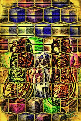 Digital Art - King Of Sneakers by Joan Reese