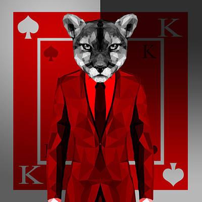 King Of Spades 4 Art Print