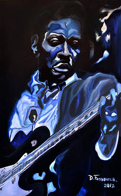Painting - King Of Swing-buddy Guy by David Fossaceca