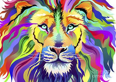 Digital Art - King Of Techincolor Variant 4 by Aimee Stewart
