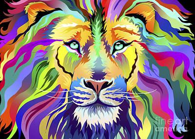 Digital Art - King Of Techinicolor Variant 1 by Aimee Stewart
