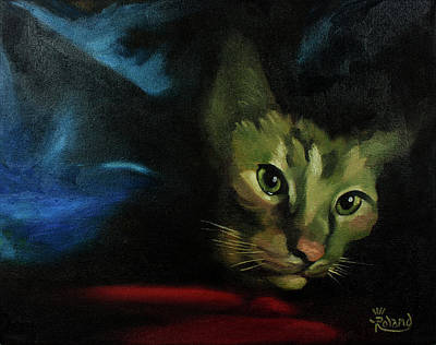 King Of The Blanket Cave Art Print by Tracy Dupuis Roland