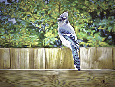 Digital Art - King Of The Blue Jays by Leslie Montgomery