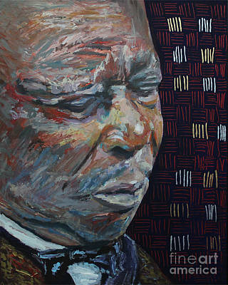 Music Paintings - King of the Blues B B King Portrait by Robert Yaeger