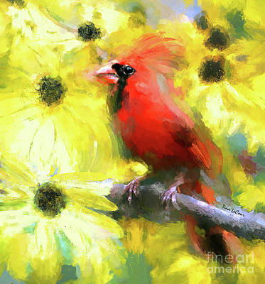 Digital Art - King Of The Coneflowers by Tina LeCour