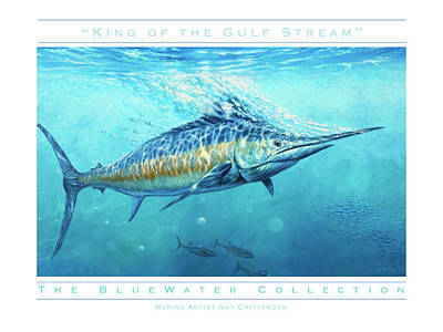 Wall Art - Painting - King Of The Gulf Stream by Guy Crittenden