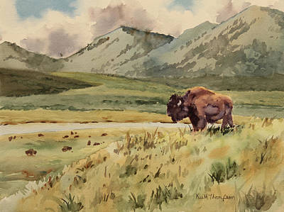 King Of The Hill - Yellowstone National Park Bison Original