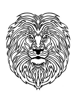 Drawing - King Of The Jungle by Marilyn Hilliard