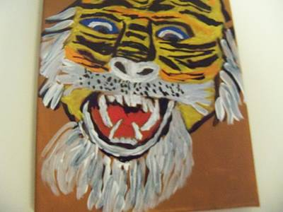 The Tiger Painting - King Of The Jungle by Rhonda Jackson