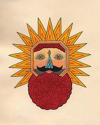 King Of The Lightning Men Art Print by Matt Leines